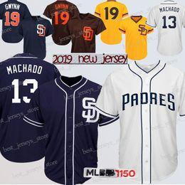 2ffe7b28f 13 Manny Machado San Diego jerseys Padres 19 Tony Gwynn 4 Wil Meyers  Baseball Jersey 2019 Design Top MEN shirt