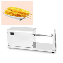 spiral fry cutter NZ - Commercial Electric Spiral Potato On Stick Slicer Cutter Long Twist Fries Chips Maker French Fry Cutter Cutting Machine