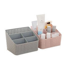 Box Jewelry Storage Organizer Black Australia - Lasperal Plastic Makeup Organizer Home Office Sundries Cosmetics Storage 5 Grids Desktop Jewelry Storage Box Container Drawer