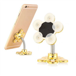double sucker for phone UK - Universal Magic sucker Phone stand Holder 360 Degree Adjustable double-side silicone suction cup phone mounts for iphone Samsung Smartphone