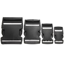 Discount black side release buckle - Osmond 1PCS 25 40 50mm Black Plastic Side Quick Release Clasp Buckles Webbing Strap Useful Bag Accessories Parts For Who