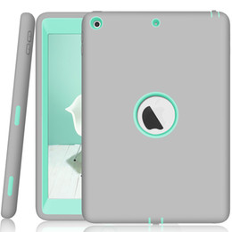 """Scratched Plastic Bumper Australia - For New iPad 9.7 """"2017 2018 Case Cover High-Impact Shock-Absorbing Dual Layer Silicone + PC Bumper Protective Anti-Scratch case"""
