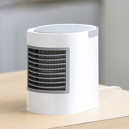 Discount air cool fans - portable air conditioner Rechargeable USB Air Cooling Fan Air Conditioning Water Cooled Portable Humidifier Fan Mini Des