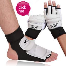$enCountryForm.capitalKeyWord Australia - Taekwondo gloves foot cover protective gear adult children hand guard foot half finger boxing gloves Taekwondo guard factory wholesale