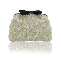 Ladies Evening Handbags Australia - 2019 New Fashion Full Pearls Beaded Bridal Wedding Hand Bags Ladies Evening Party One Shoulder Small Clutch Dinner Bags Beautiful