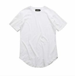 Plain Mens Tee Shirt Australia - 2019 Curved Hem Hip Hop T-shirt Men Urban Kpop Extended T shirt Plain Longline Mens Tee Shirts Male Clothes wholesale