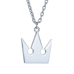 $enCountryForm.capitalKeyWord UK - High Quality Kingdom Hearts Silver Plated Royal Crown Pendant Necklace Cheap Wholesale Fashion Sora Chain Necklace