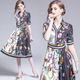 $enCountryForm.capitalKeyWord UK - Summer Dress V Neck Midi Short Sleeve High Waist Party Wedding Prom Cocktail Dinner Women Pleated Dresses 6259