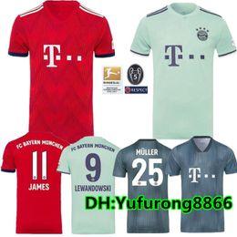 fe54cefb Thailand Bayern Munich JAMES RODRIGUEZ Soccer jersey 2018 2019 LEWANDOWSKI  MULLER KIMMICH 18 19 HUMMELS Football shirt Champions league