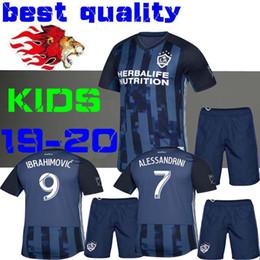 Kids Navy Shirts Australia - Child IBRAHIMOVIC 19 20 Away blue soccer Jersey LA Galaxy GERRARD KAMARA Navy GIOVANI BECKHAM J.DOS SANTOS 2019 football shirts KIDS BOYS
