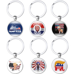 flags rings 2020 - 6 styles Trump 2020 keychain Time Gem Flag Key Chain Metal REELECT trump pendant Key Ring Gift Key Holder Jewelry JJ184