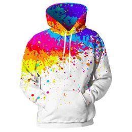 Wholesale spot hoodie for sale – custom New D hoodie men and women paint spots D printed long sleeve hat street pullover tops