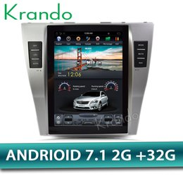 "Multimedia Player For Car Australia - Krando Android 7.1 10.4"" Tesla Vertical screen car DVD multimedia player GPS for Toyota Camry 2007-2011 radio audio stereo BT WIFI"