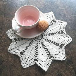 "$enCountryForm.capitalKeyWord Australia - 10 PCS Handmade Crocheted Doilies Round White Vintage Wedding Home Decorative 9"" 23CM Cotton placemats, Christmas white round doily"