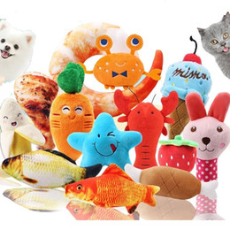 $enCountryForm.capitalKeyWord Australia - 10pcs lot Mixcolors Wholesale Pet Dog Toys For Small Dogs Cute Puppy Cat Chew Squeaker Squeaky Plush Toy Pet Supplies Q190430