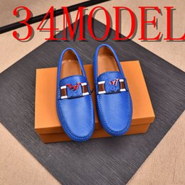 20SS Men Loafers Shoes Split Leather Fashion Style High Quality Casual Leather Shoes Super Soft Flats Comfort Men Driving Shoes US6.5-12