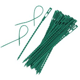 plastic cable ties Canada - 50pcs 100pcs Adjustable Plastic Plant Cable Ties Reusable Cable Ties for Garden Tree Climbing Support