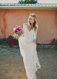 $enCountryForm.capitalKeyWord Australia - 2019 Lace Boho Mermaid Wedding Dresses Illusion Long Sleeves Modest Backless Plus Size Country Reception Bridal Gowns