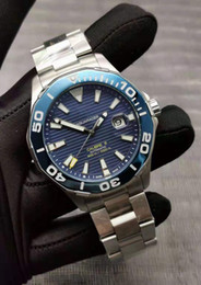 Luxury mens watches automatic chronograph online shopping - 2019 Luxury Top mm Aquaracer Calibre Automatic Mens Watch Stainless Steel Band Watches Movement Watch