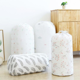 Storage Beds Australia - simple printed drawstring quilt bags waterproof pillow blanket bedding large organizer storage bag home clothes quilt packing lage bag