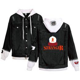 $enCountryForm.capitalKeyWord Australia - Newest sweatshirt Stranger Things Denim Hoodies Men Women Casual Harajuku Hot U.S. drama Stranger Things Denim Jacket