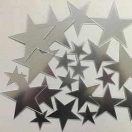 $enCountryForm.capitalKeyWord Australia - 20set 20pcs set Acrylic Mirror Surface Sticker Cartoon Starry Wall Stickers For Kids Rooms Home Decor Cute Stars Wall Decal Baby Mural