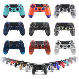 Station Wireless Controllers Australia - Bluetooth Wireless PS4 Controller for PS4 Vibration Joystick Gamepad PS4 Game Controller for Sony Play Station With box NWE+