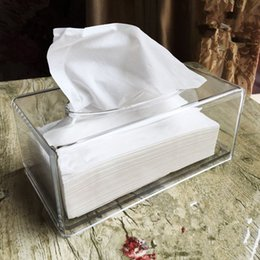 $enCountryForm.capitalKeyWord Australia - Acrylic Transparent Tissue Box Portable Napkin Holder Home Kitchen Plastic Facial Tissue Box Cover Napkin Holder Case Stylish