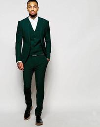 $enCountryForm.capitalKeyWord Australia - Latest Design Dark Green Groom Tuxedos Groomsmen Custom Made Best Man Suits Mens Wedding Party Suits (Jacket+Pants+Vest)