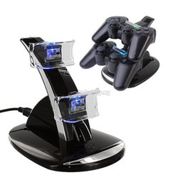 Playstation Wireless Controller Charge Australia - LED Dual Controller Charger Dock Station Stand Charging for Playstation PS3new