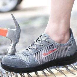 $enCountryForm.capitalKeyWord Australia - Hot Sale-Summer Breathable Mesh Work Safety Shoes Steel Toe Caps Work Safety Puncture Proof Boots for Men Outdoor Casual Working Shoes
