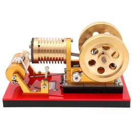 Ingrosso Tipo di fuoco aspirante Professional Edition Cilindro di rame puro ad aria calda Modello di motore Stirling a energia termica per i giocatori di fascia alta