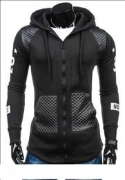 $enCountryForm.capitalKeyWord Australia - 2017 Men's Fashion New Winter Coat Sleeve Slim Leather Fight Print Cardigan Sweater Zipper hoodies Cotton Blend Applicable scenes: Dail