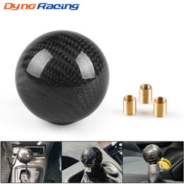 $enCountryForm.capitalKeyWord Australia - Real Carbon Fiber Universal Car Gear Shift Knob Shifter Lever Round Ball Shape No number style BX101578 BX101579