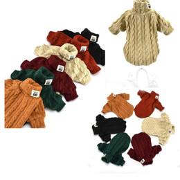 $enCountryForm.capitalKeyWord UK - Dog Clothes Winter warm Pet Cat turtleneck Wool knitting sweater Chihuahua Winter Clothing Exquisite Handmade Coat Jacket Wholesale 6 Colors