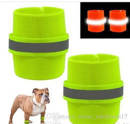 Hair Wristbands Australia - Free Shipping 2pcs Reflective Dog Wristband High Visibility Safety Pet Bracelet Night Running Hiking Walking for Small Large Dogs