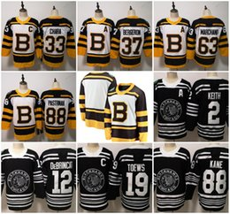 2019 Winter Classic Chicago Blackhawks Boston Bruins Toews DeBrincat  Patrick Kane Seabrook Crawford Pastrnak Bergeron Marchand hockey jersey 543557011