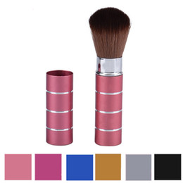 wholesale cosmetic makeup brushes NZ - 1PC Pro Retractable Dome Blush Brush Aluminum Eyeshadow Foundation Facial Brushes Makeup Cosmetic Tools