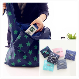 Clothes hanging bags online shopping - Portable Large Size Shopping Bags Foldable Grocery Bag Reusable Home Storage Bags Shipping Tote Bags With Pouch Packaging