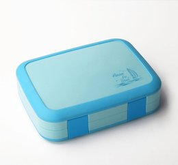 Wholesale W Lunch Box For Kids BPA Free Food Containers Microwavable Bento Box Snack Box Cartoon School Picnic Food Grade Waterproof Storage