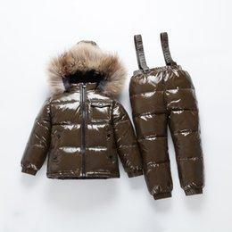 $enCountryForm.capitalKeyWord Australia - Dollplus 2019 Down Suit Winter Boy Children Sets Windproof Waterproof Kids Ski Set for Girls Jackets Pants Fur Hooded Collar
