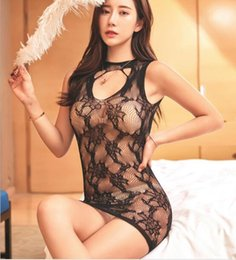 Sexy Erotic Lingerie Mesh Women Underwear Hollowed Out Transparent jacquard skirt Lingerie Babydoll Chemise Porno Sex Underwear Dress