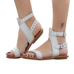 da2ca92093ef Beach Sandals Fashion Ladies Woman Shoes New Summer Gladiator Roman Shoes  Flat Thong Sandals Footwear Plus Size 35-43