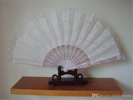 spanish lace hand fans Australia - 50pcs lot NEW FASHION ! wedding WHITE LACE FAN Hand Fans FANCY DRESS GEISHA   SPANISH LADY Dancing with the fan