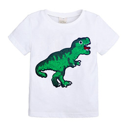 $enCountryForm.capitalKeyWord Australia - new model kids summer new sequins face change color face cartoon cotton T-shirt boys and girls