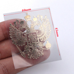 Vw Car Decals Stickers Australia - 3D Aluminum Coat of arms of Russia car body metal sticker Russian Eagle Decal Decoration stickers for lada kia Renault VW BMW