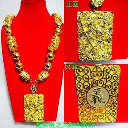 $enCountryForm.capitalKeyWord Australia - Yulaili Free Shipping Gold-color Male Luxury Atmospheric Design Dragon Shape Long Necklace Jewelry Sets Window Jewelry Display