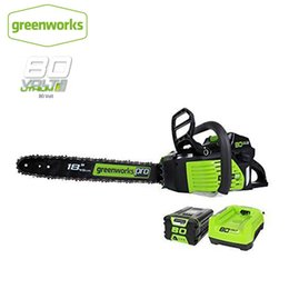 gasoline saws UK - GreenWorks Pro GCS80420 80V 18-Inch Cordless Chainsaw as Gasoline power chain saw, 4Ah Li-Ion Battery and Charger Included