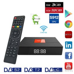 dvb player android NZ - Magicsee C400 Plus Amlogic S912 Octa Core TV Box 3+32GB Android 4K Smart TV Box DVB-S2 DVB-T2 Cable Dual WiFi Smart Media Player