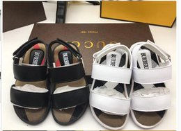 american leather shoes Australia - European and American B New Kids Summer Shoes, Boys and Girls Flat-soled Shoes